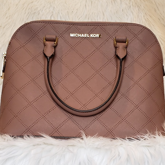 71af03b27426 MICHAEL Michael Kors Bags | Michael Kors Cindy Quilted Saffiano Dome ...